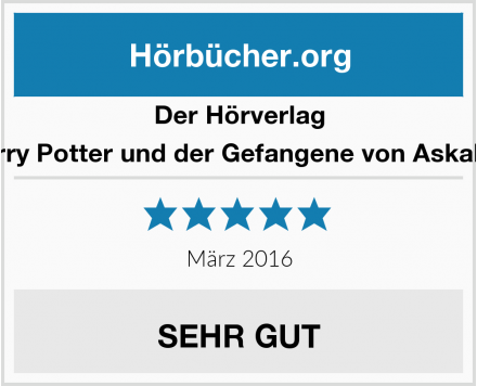 Der Hörverlag Harry Potter und der Gefangene von Askaban Test