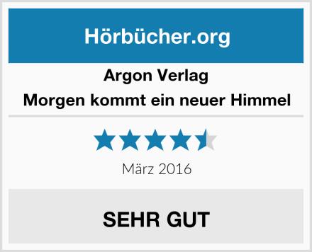 Argon Verlag Morgen kommt ein neuer Himmel Test