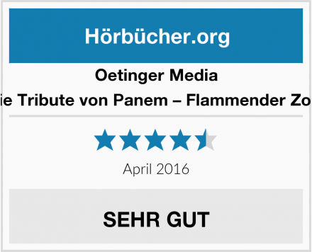 Oetinger Media Die Tribute von Panem – Flammender Zorn Test