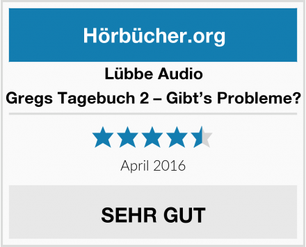 Lübbe Audio Gregs Tagebuch 2 – Gibt's Probleme? Test