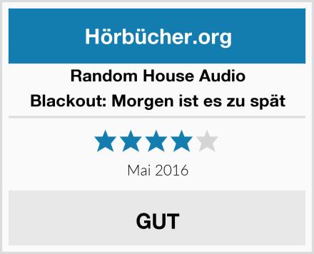 Random House Audio Blackout: Morgen ist es zu spät Test