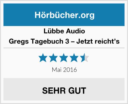 Lübbe Audio Gregs Tagebuch 3 – Jetzt reicht's Test
